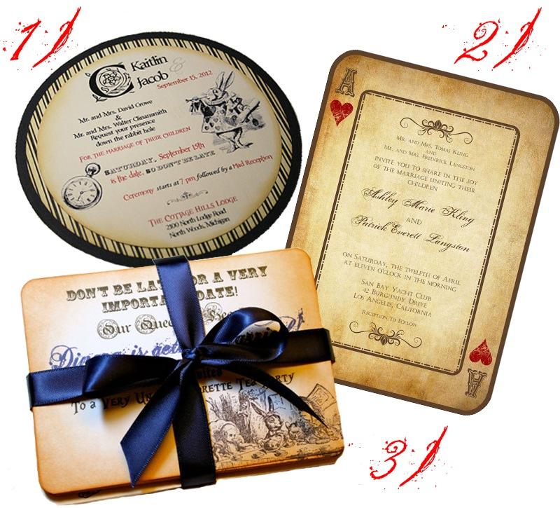 alice in wonderland wedding  trinity ridge photography's blog, Wedding invitations