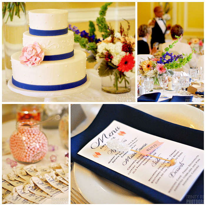 Arlington Hotel Wedding Reception Cake Favors Menu Decor 2