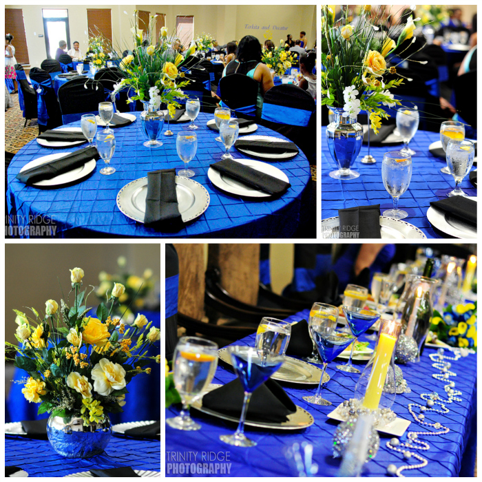 oklahoma city wedding blue and yellow decor