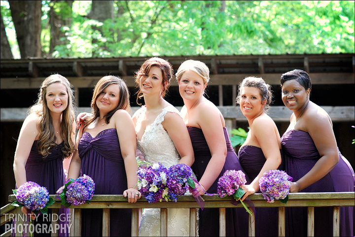 The Garden Room Fayetteville Arkansas Wedding bridesmaids purple