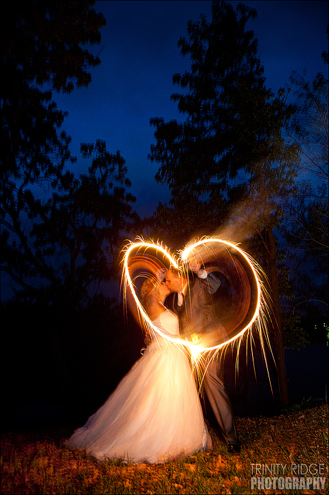 Grove Oklahoma outside ceremony wedding photographers sparklers