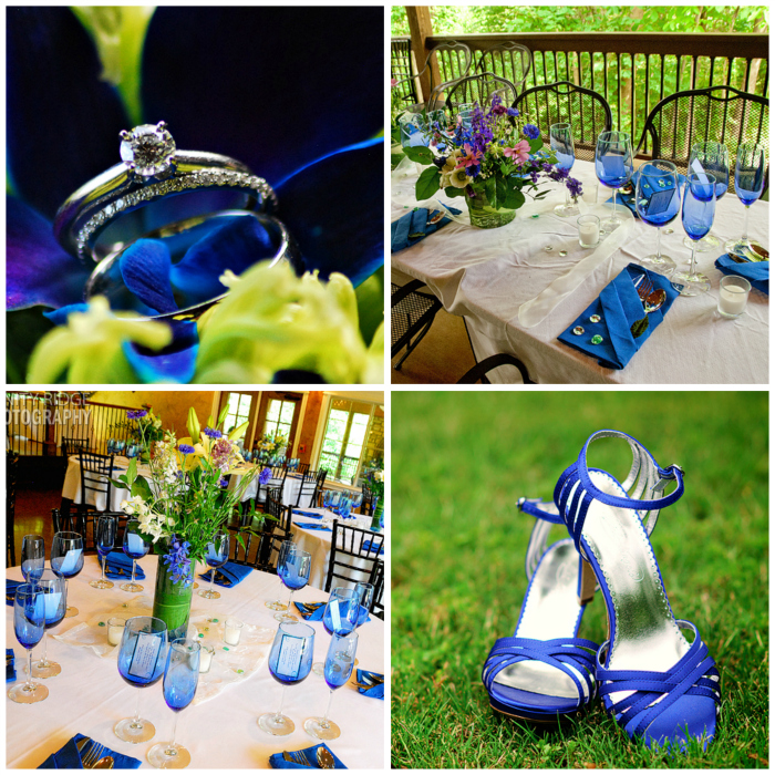 wedding reception st. anthony's on the creek arkansas blue green