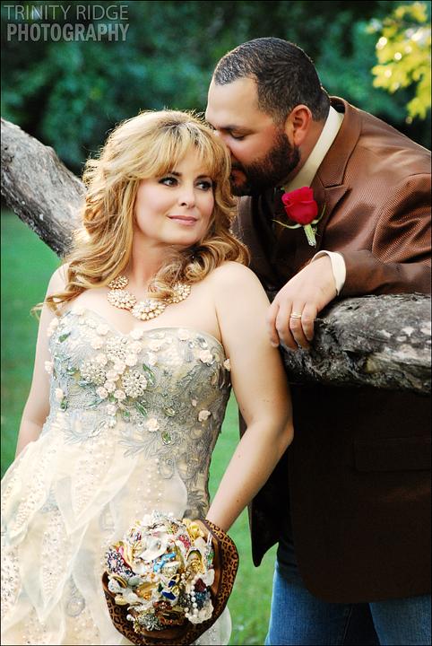North Little Rock Wedding couple Backyard