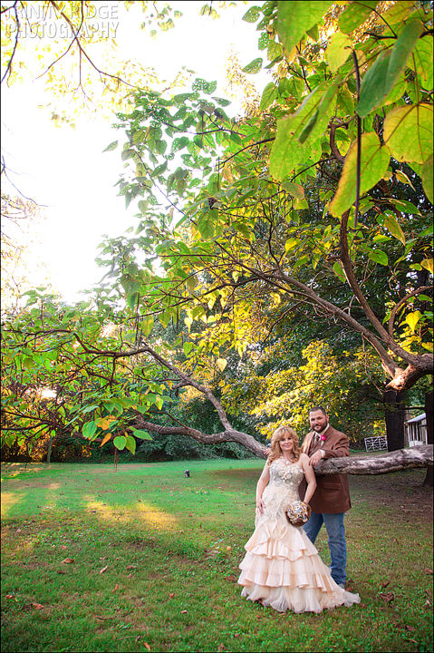 North Little Rock Wedding couple Backyard Victorian Home