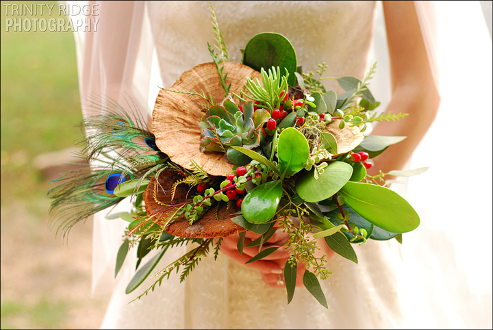 Ponca Arkansas Buffalo River Wedding Photography Unique Bouquet