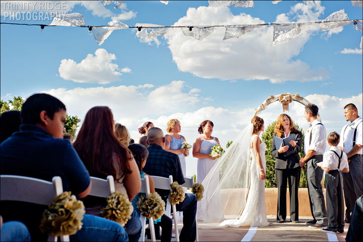 Santa Fe New Mexico Wedding Hacienda Dona Andrea Wedding Photographers Ceremony