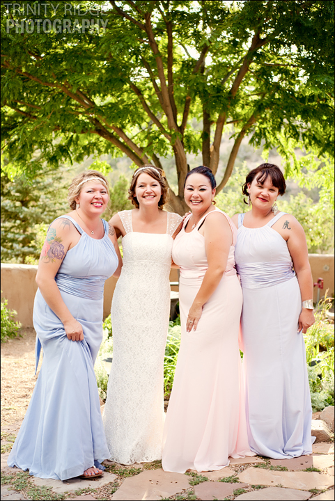 Santa Fe New Mexico Wedding Hacienda Dona Andrea Wedding Photographers Bridesmaids