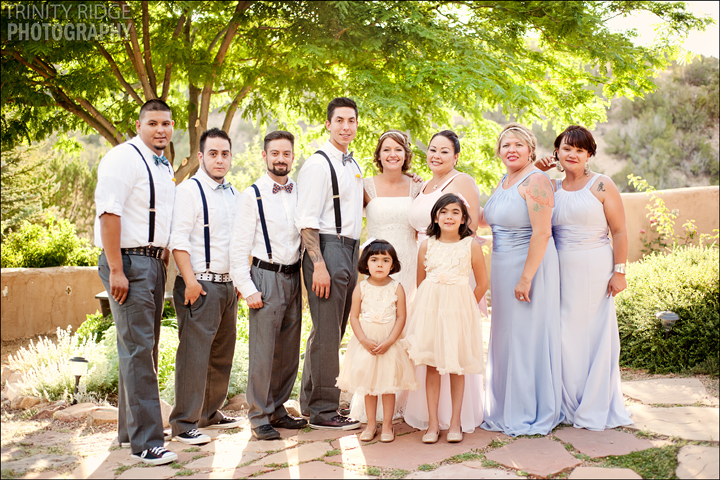 Santa Fe New Mexico Wedding Hacienda Dona Andrea Wedding Photographers Wedding party