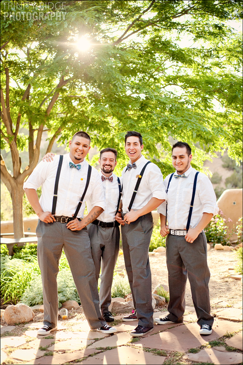 Santa Fe New Mexico Wedding Hacienda Dona Andrea Wedding Photographers groomsmen