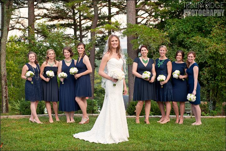 Crescent Hotel Outdoor Wedding Eureka Springs Arkansas Photographers Bridesmaids