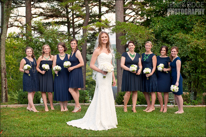 Crescent Hotel Outdoor Wedding Eureka Springs Arkansas Photographers Bridesmaids