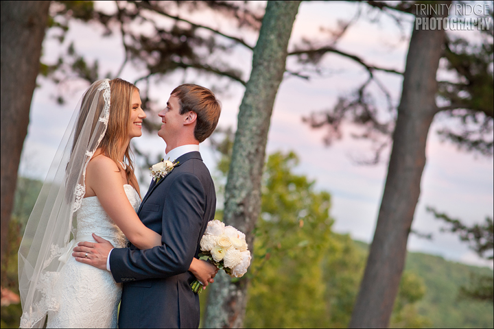 Crescent Hotel Outdoor Wedding Eureka Springs Arkansas Photographers Bride and Groom
