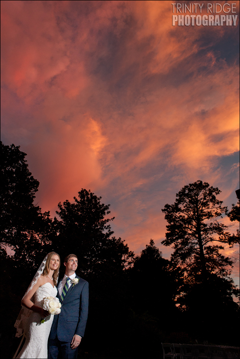 Crescent Hotel Outdoor Wedding Eureka Springs Arkansas Photographers Bride and Groom