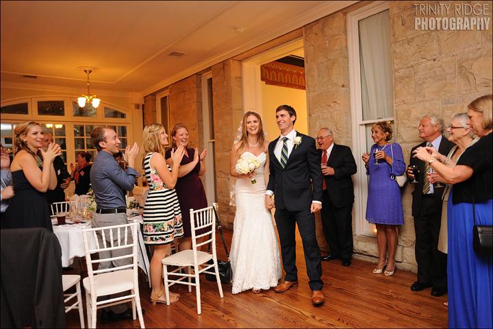 Crescent Hotel Wedding Eureka Springs Arkansas Photographers Bride and Groom Conservatory Reception