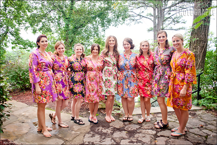 Eureka Springs Wedding Photography Bridesmaids Arkansas Bride Kimonos