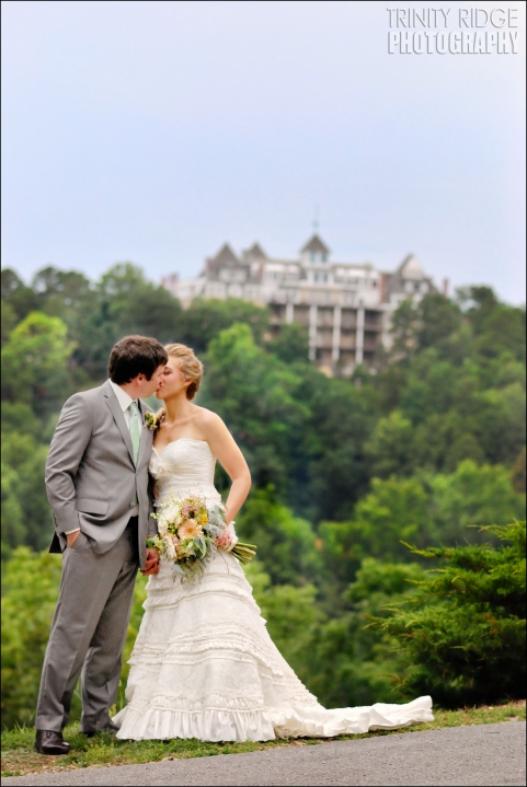 bride and groom wedding eureka springs arkansas crescent hotel